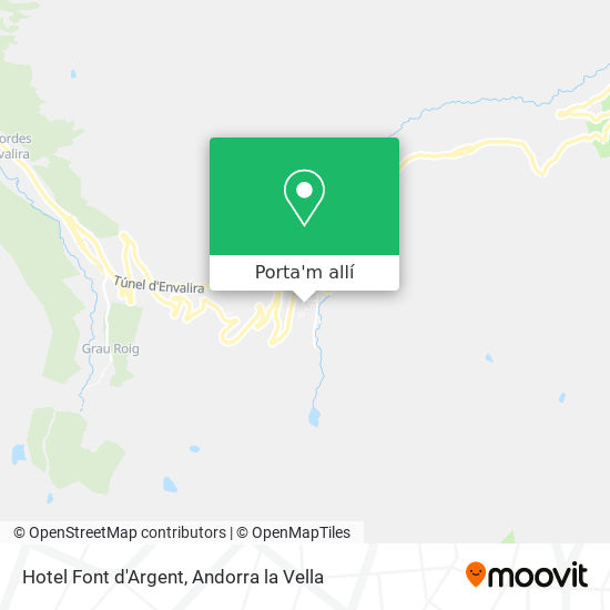 mapa Hotel Font d'Argent