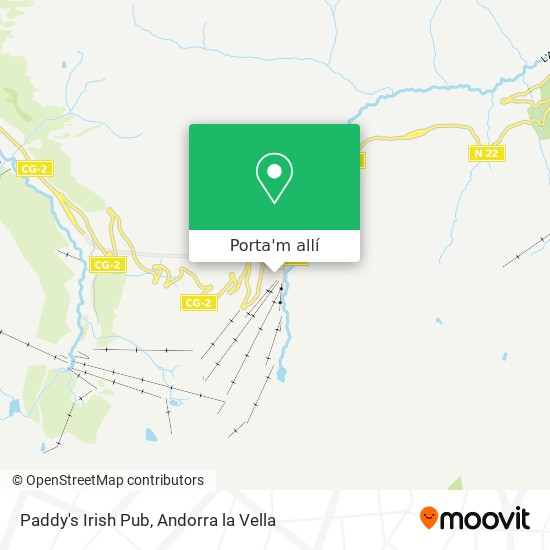 mapa Paddy's Irish Pub