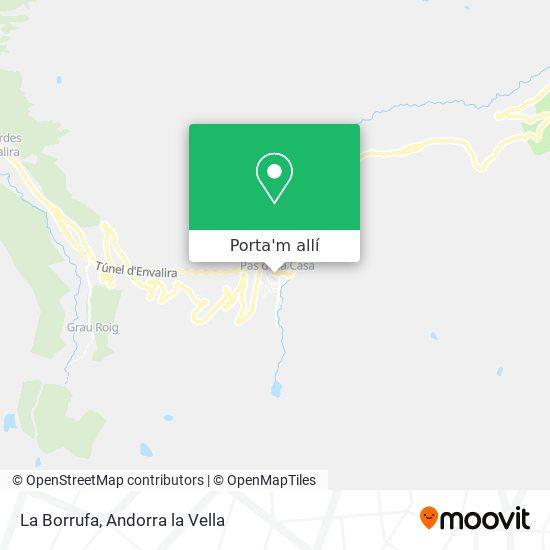 mapa La Borrufa