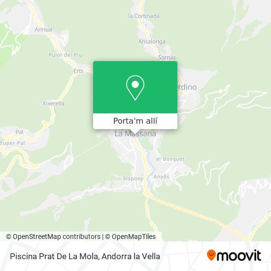 mapa Piscina Prat De La Mola