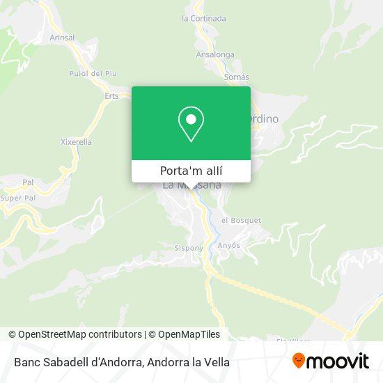 mapa Banc Sabadell d'Andorra