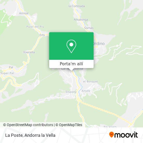mapa La Poste