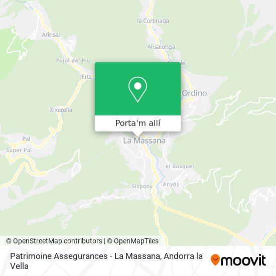 mapa Patrimoine Assegurances - La Massana