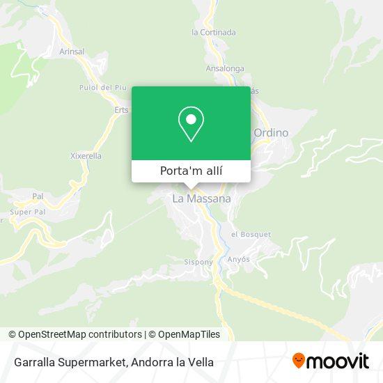 mapa Garralla Supermarket