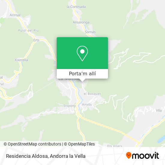 mapa Residencia Aldosa