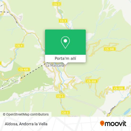 mapa Aldosa