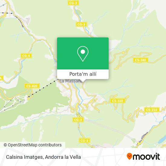 mapa Calsina Imatges