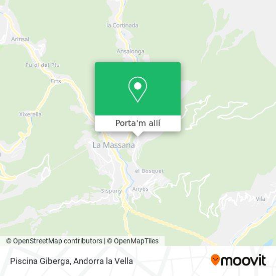 mapa Piscina Giberga