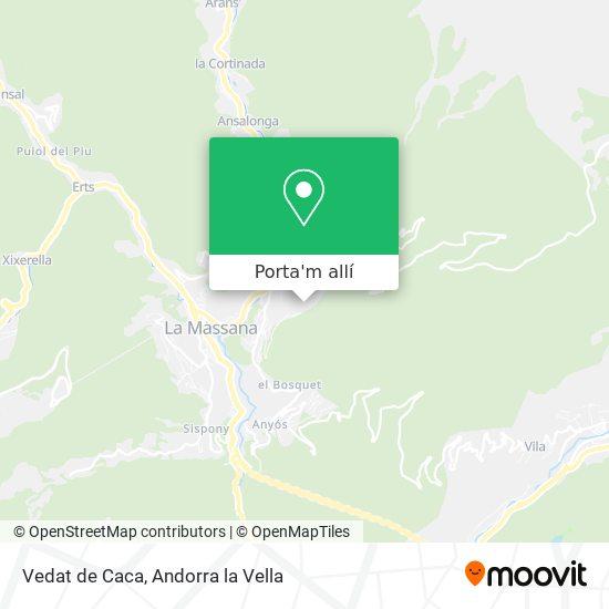 mapa Vedat de Caca