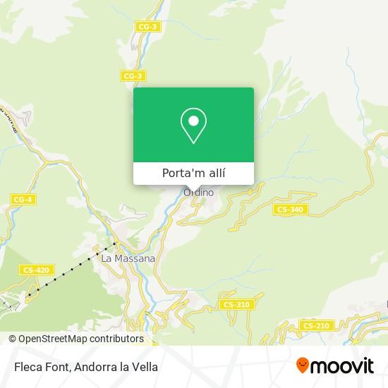 mapa Fleca Font