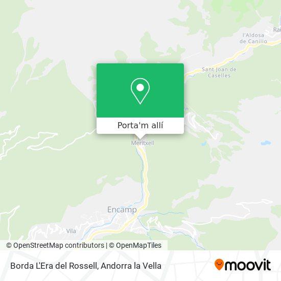 mapa Borda L'Era del Rossell