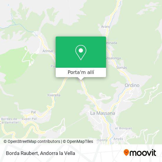 mapa Borda Raubert