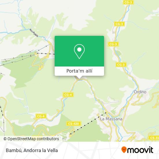 mapa Bambú