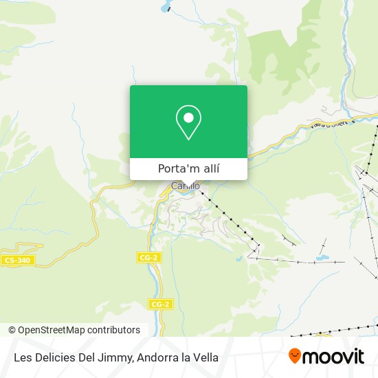 mapa Les Delicies Del Jimmy