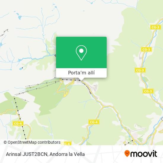 mapa Arinsal JUST2BCN