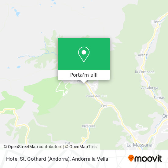 mapa Hotel St. Gothard (Andorra)