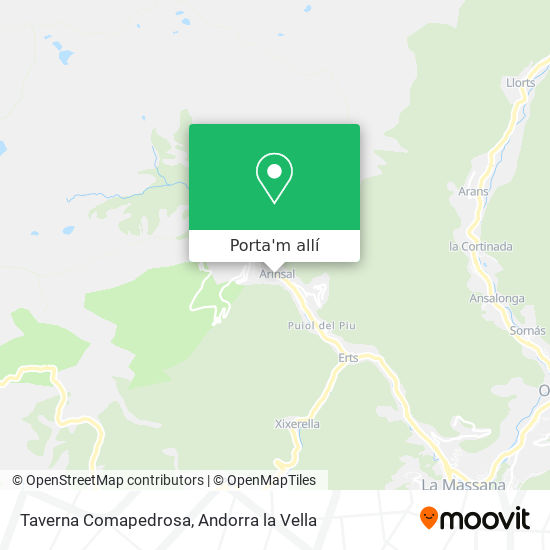 mapa Taverna Comapedrosa