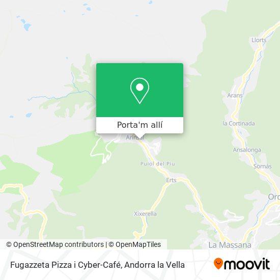 mapa Fugazzeta Pizza i Cyber-Café