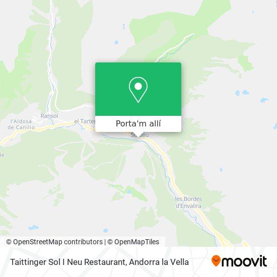 mapa Taittinger Sol I Neu Restaurant