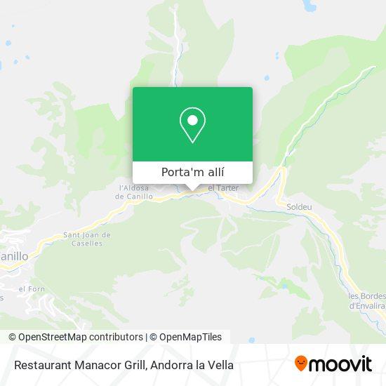 mapa Restaurant Manacor Grill