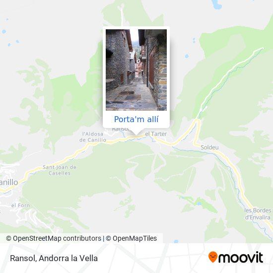 mapa Ransol
