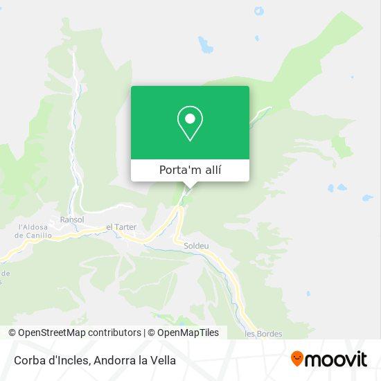 mapa Corba d'Incles