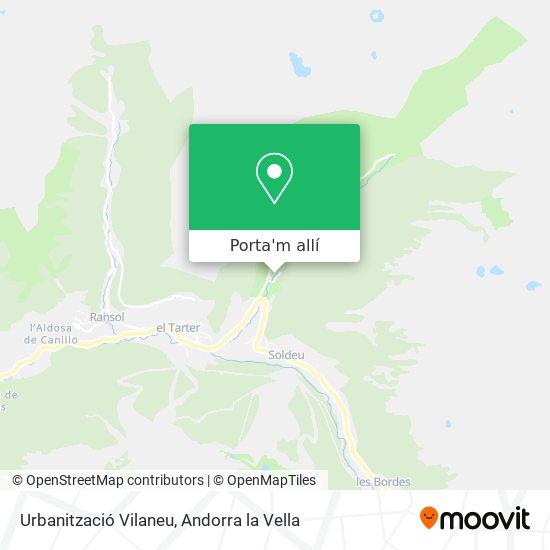 mapa Urbanització Vilaneu