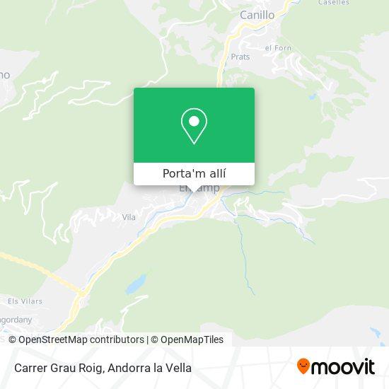 mapa Carrer Grau Roig