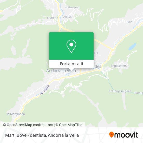 mapa Marti Bove - dentista