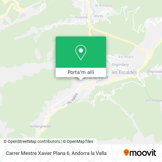 mapa Carrer Mestre Xavier Plana 6