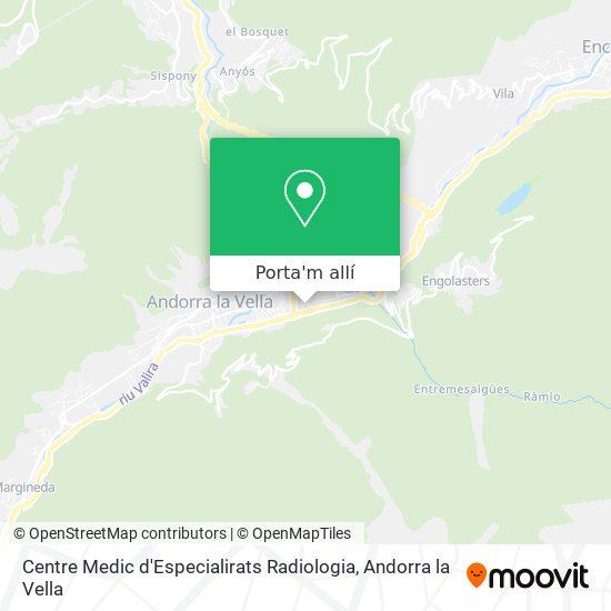 mapa Centre Medic d'Especialirats Radiologia