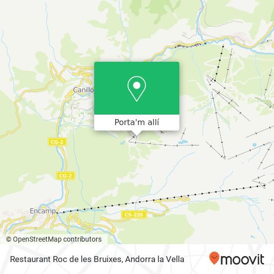 mapa Restaurant Roc de les Bruixes