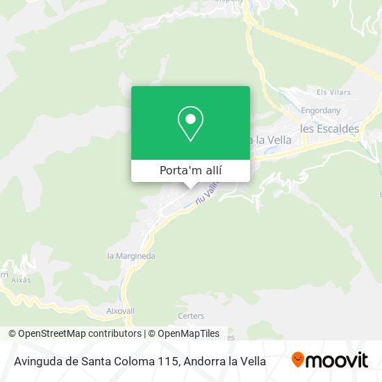 mapa Avinguda de Santa Coloma 115