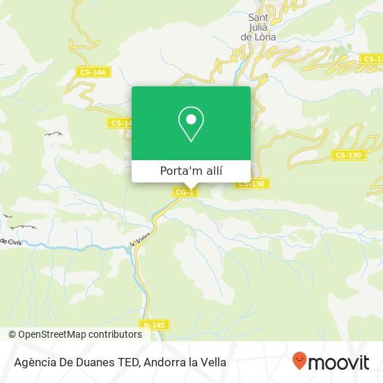 mapa Agència De Duanes TED