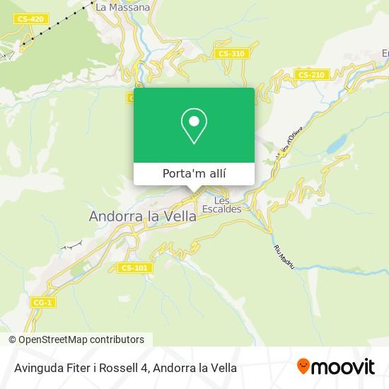 mapa Avinguda Fiter i Rossell 4