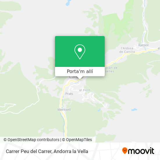 mapa Carrer Peu del Carrer