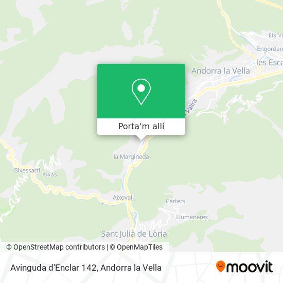 mapa Avinguda d'Enclar 142