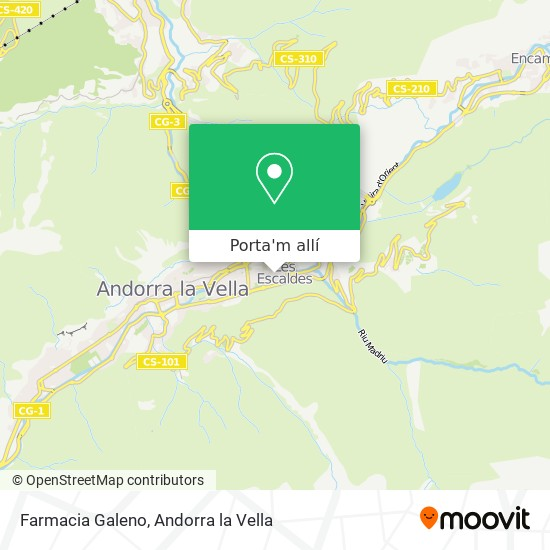 mapa Farmacia Galeno