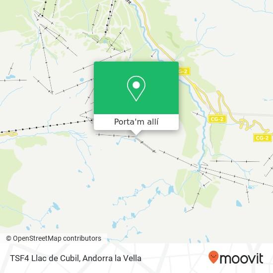 mapa TSF4 Llac de Cubil