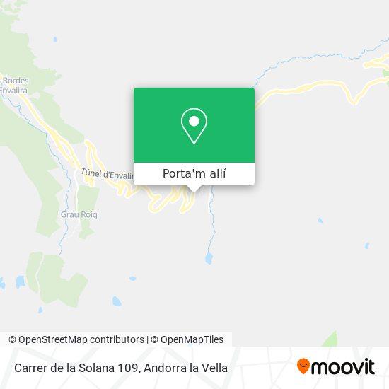mapa Carrer de la Solana 109