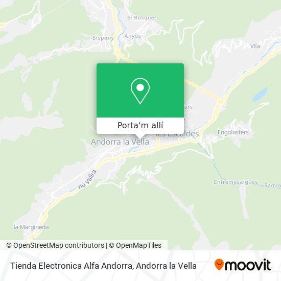 mapa Tienda Electronica Alfa Andorra