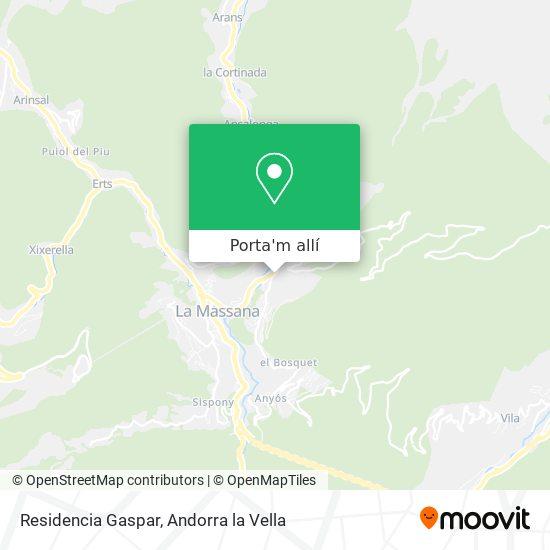 mapa Residencia Gaspar