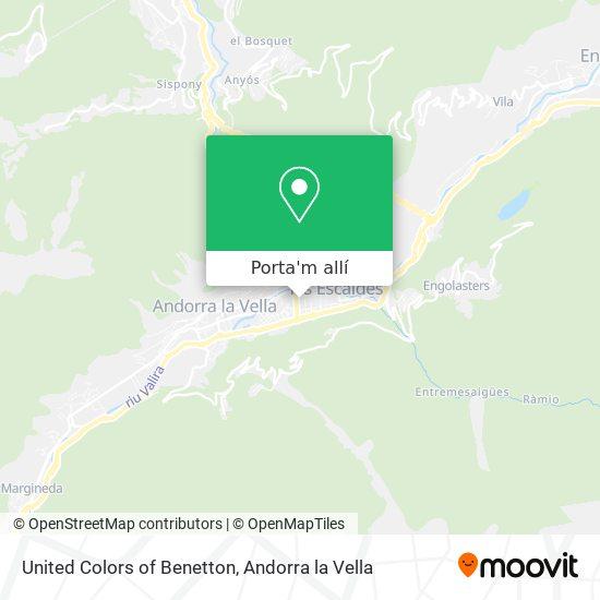 mapa United Colors of Benetton