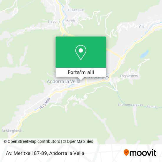 mapa Av. Meritxell 87-89