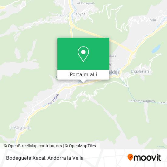mapa Bodegueta Xacal