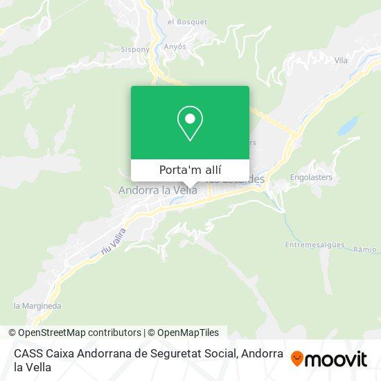 mapa CASS Caixa Andorrana de Seguretat Social