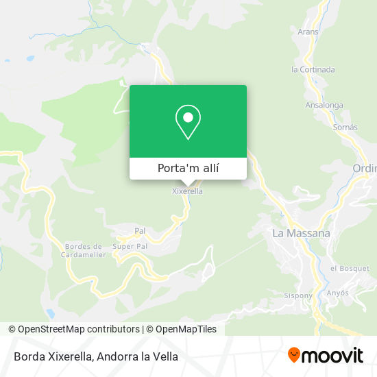 mapa Borda Xixerella