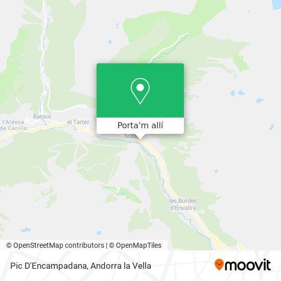 mapa Pic D'Encampadana