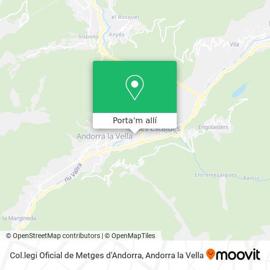mapa Col.legi Oficial  de Metges d'Andorra
