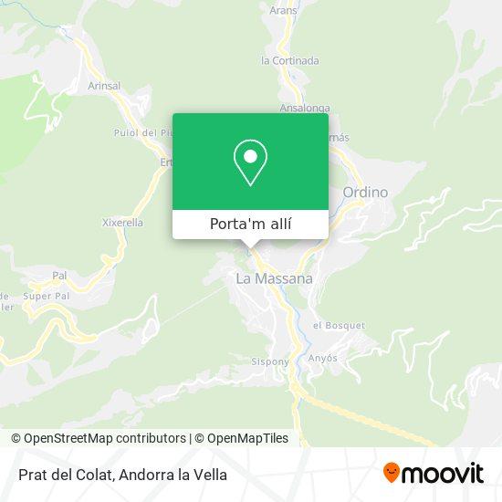mapa Prat del Colat